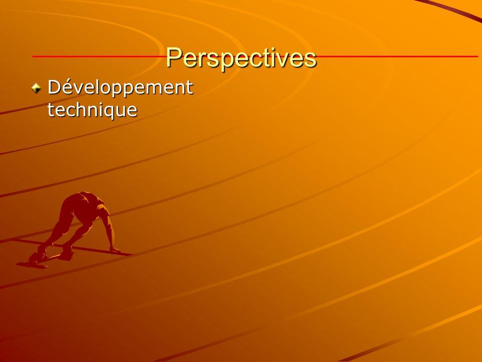 Perspectives Développement technique