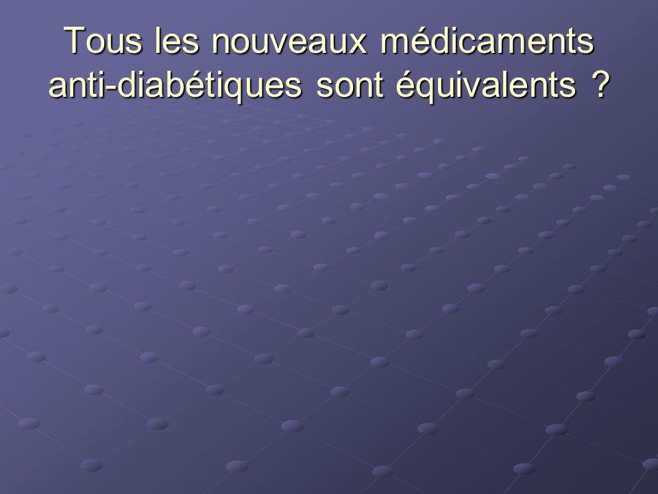 Tous les nouveaux médicaments anti-diabétiques sont équivalents