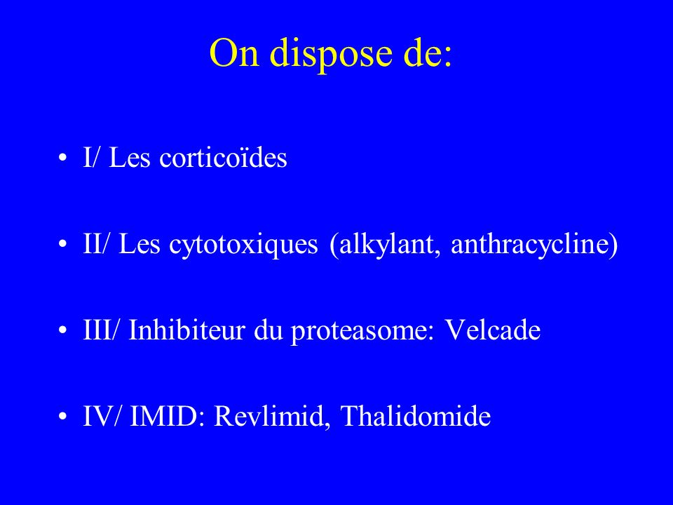 On dispose de: I/ Les corticoïdes