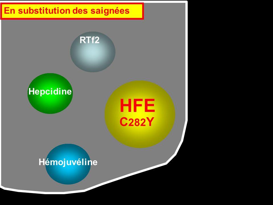 HFE C282Y En substitution des saignées RTf2 Hepcidine Hémojuvéline