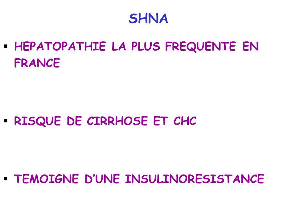 SHNA HEPATOPATHIE LA PLUS FREQUENTE EN FRANCE