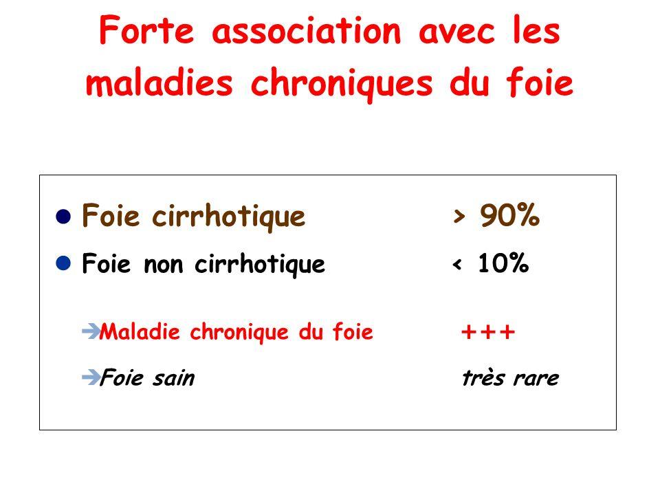 Forte association avec les maladies chroniques du foie
