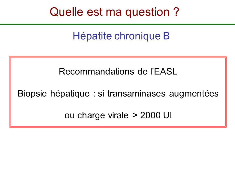 Recommandations de l'EASL