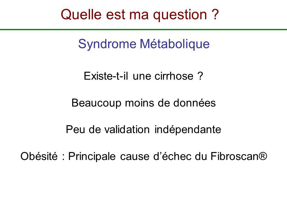 Quelle est ma question Syndrome Métabolique