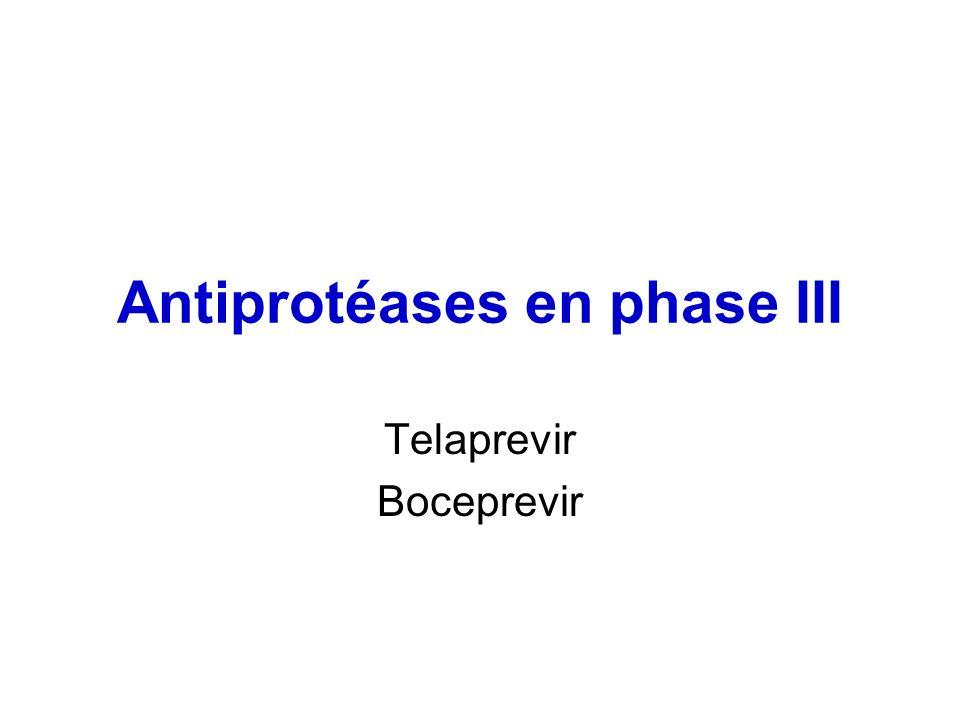 Antiprotéases en phase III