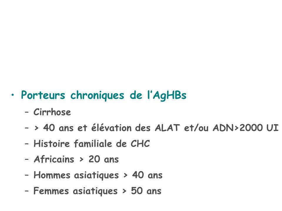 Porteurs chroniques de l'AgHBs