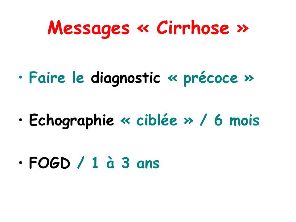 Messages « Cirrhose » Faire le diagnostic « précoce »