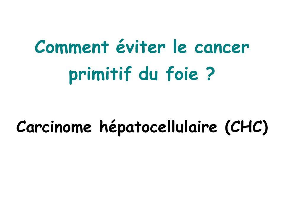 Comment éviter le cancer primitif du foie