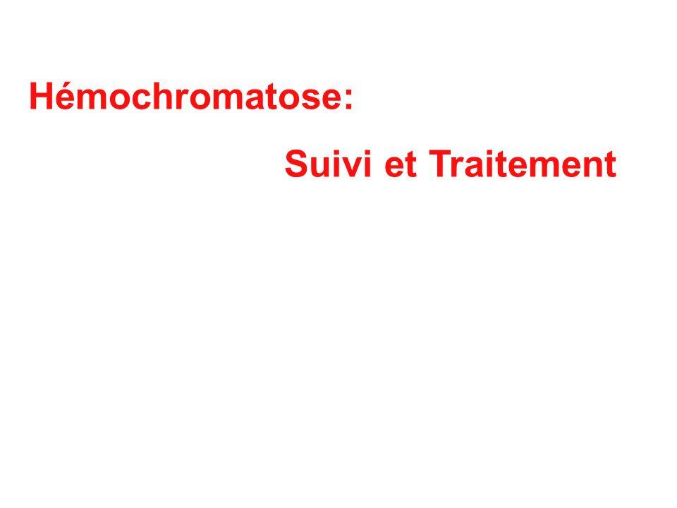 Hémochromatose: Suivi et Traitement 83