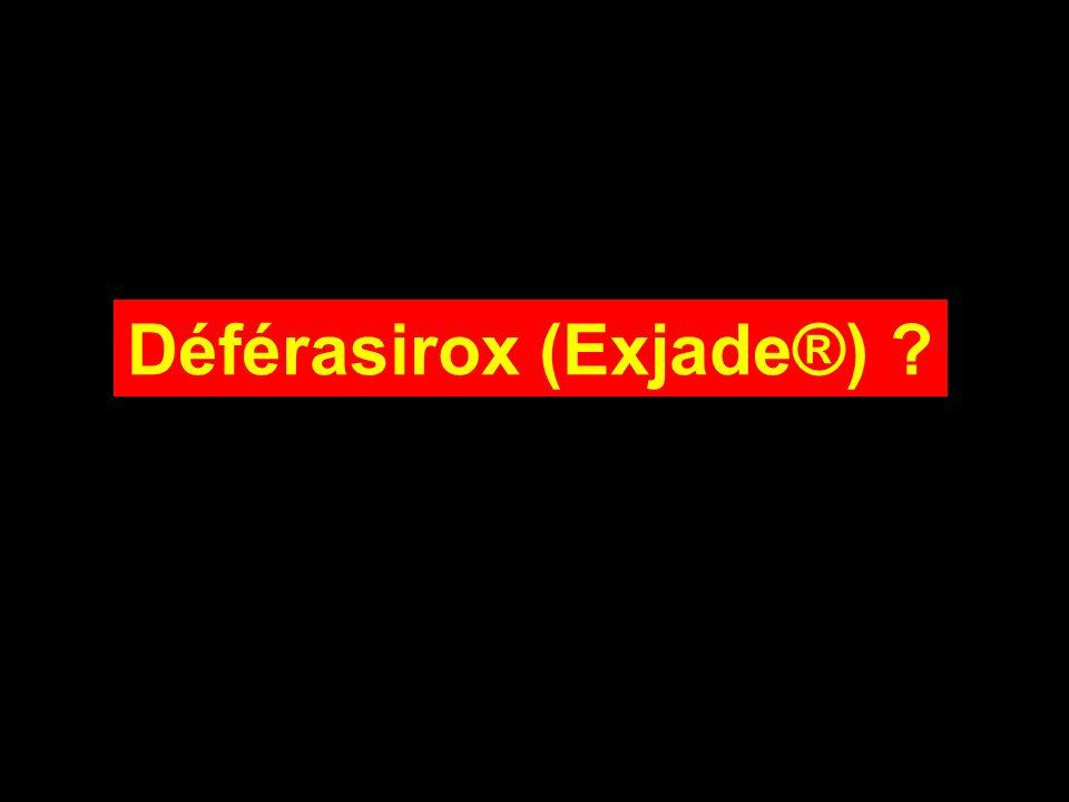 Déférasirox (Exjade®)
