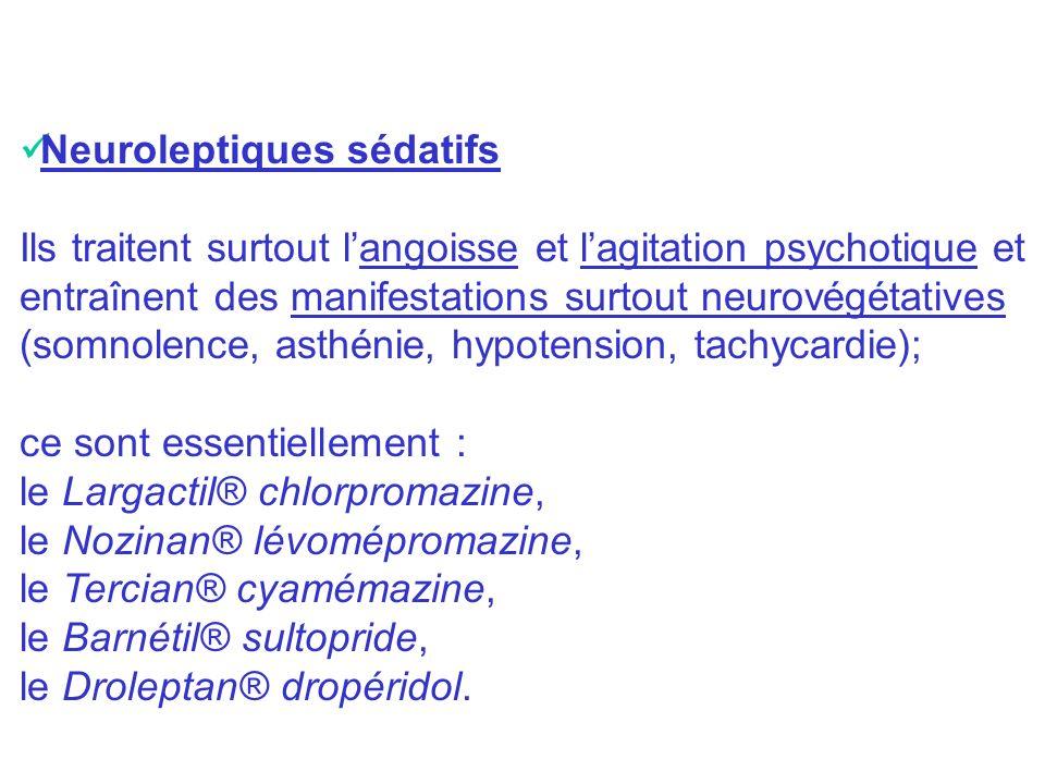Neuroleptiques sédatifs