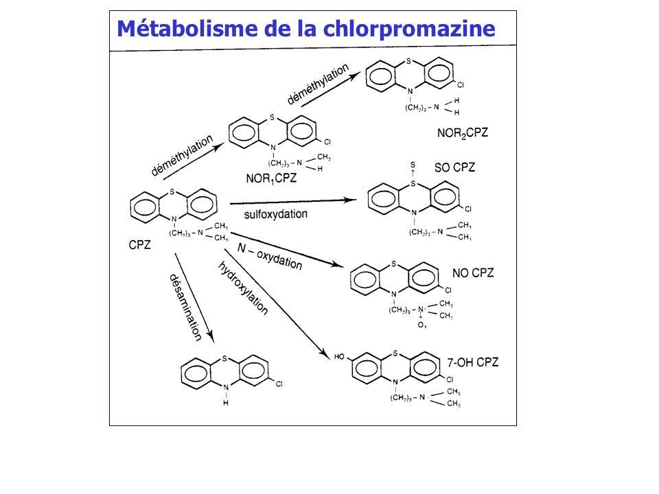 Métabolisme de la chlorpromazine