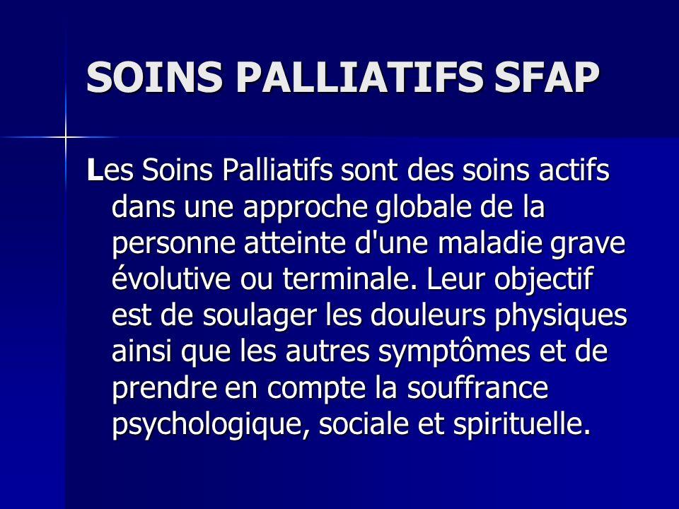 SOINS PALLIATIFS SFAP