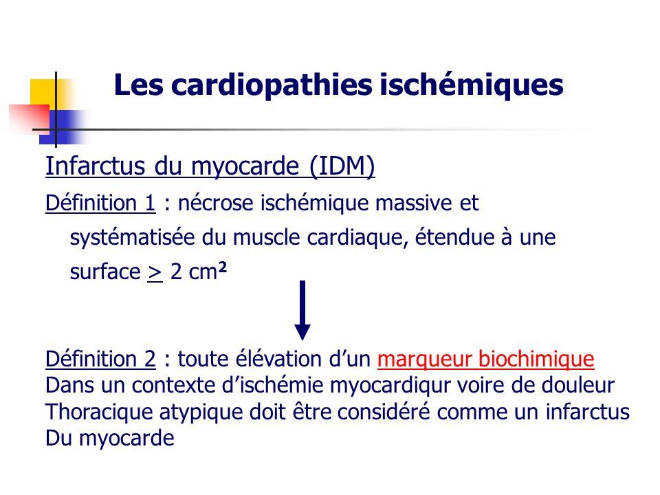 Les cardiopathies ischémiques