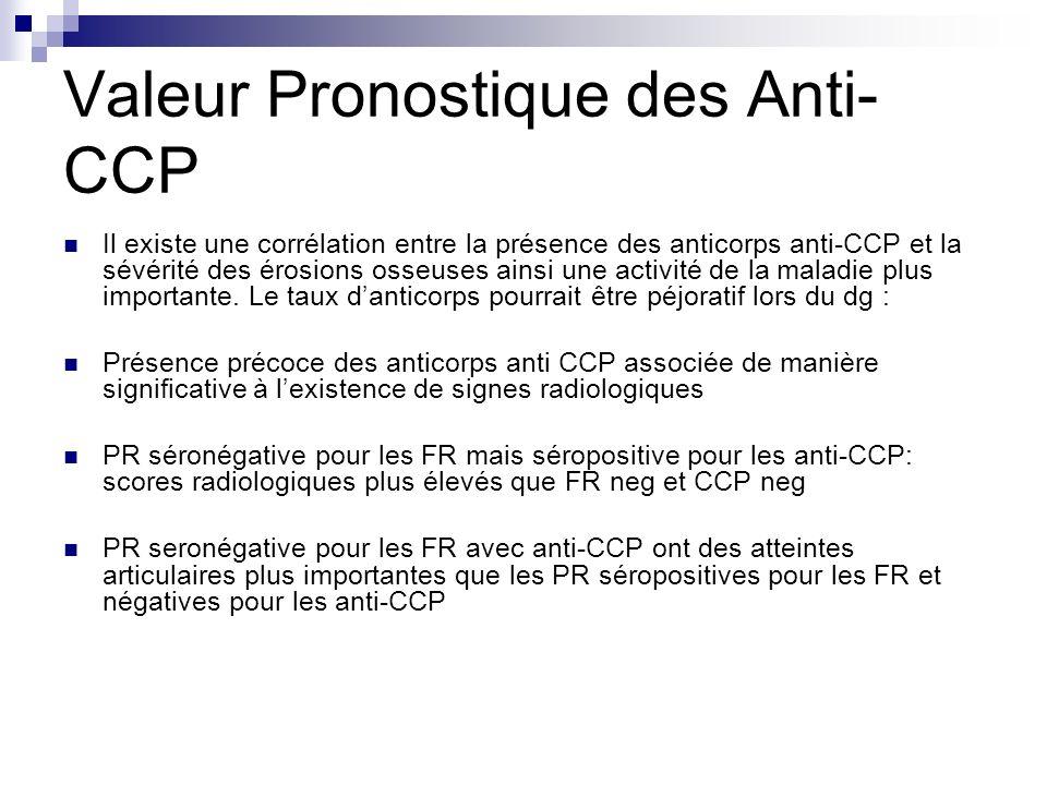 Valeur Pronostique des Anti-CCP
