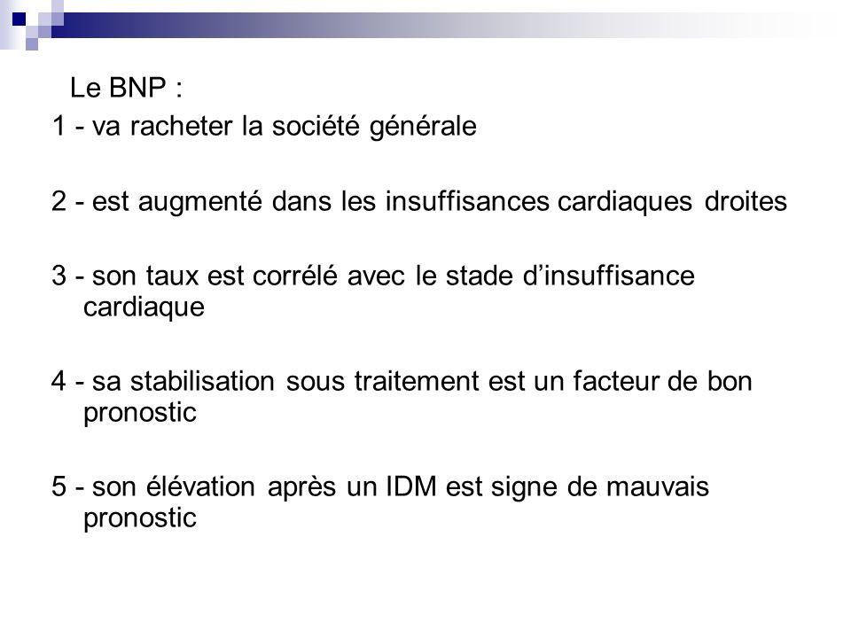 Le BNP : 1 - va racheter la société générale