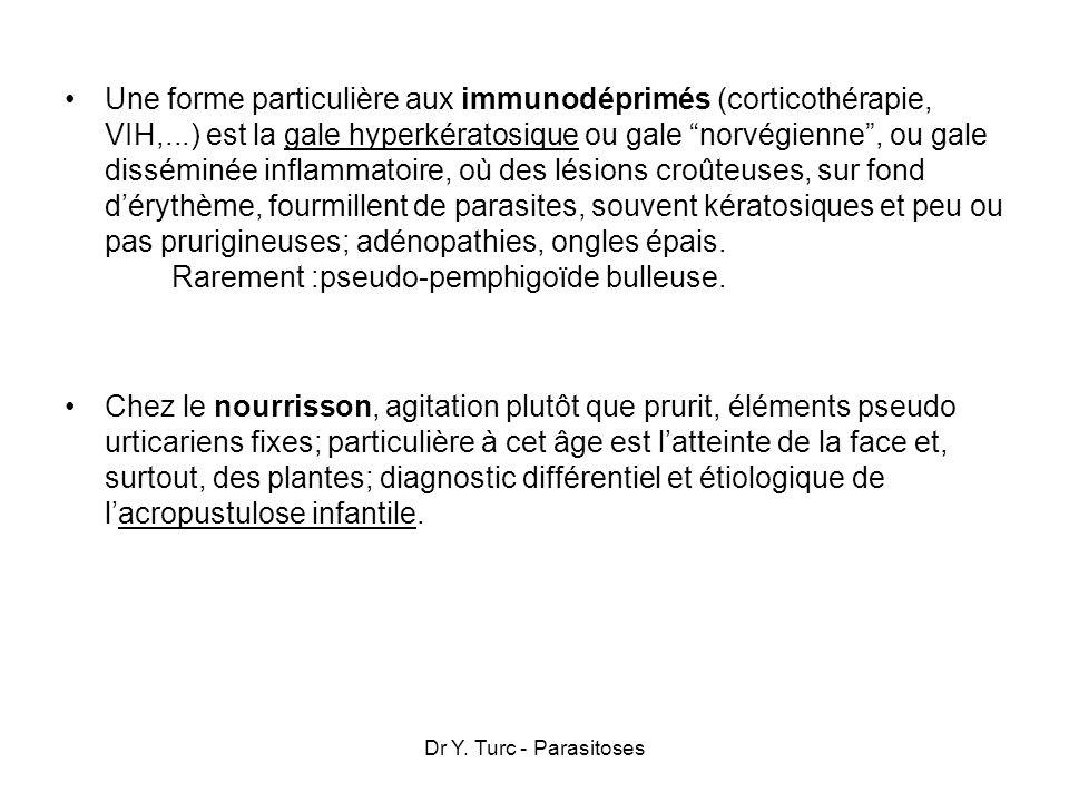 Une forme particulière aux immunodéprimés (corticothérapie, VIH,