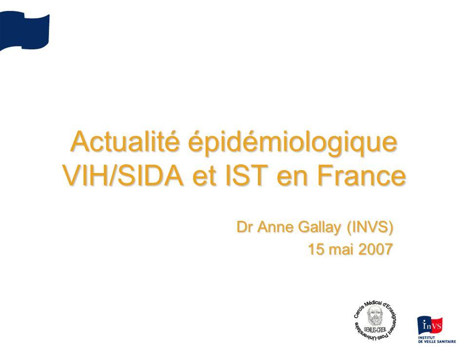 Actualité épidémiologique VIH/SIDA et IST en France
