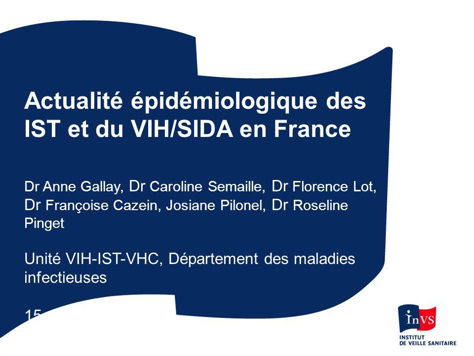Actualité épidémiologique des IST et du VIH/SIDA en France