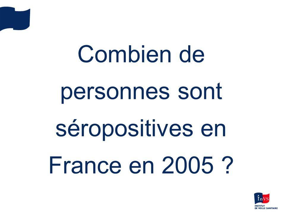 Combien de personnes sont séropositives en France en 2005