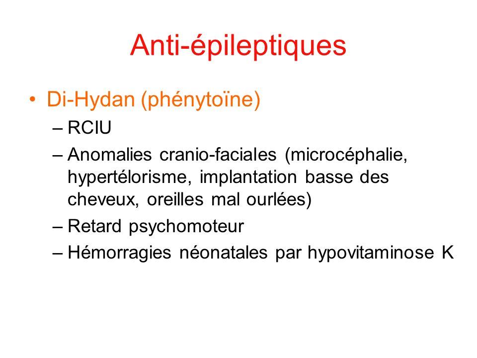 Anti-épileptiques Di-Hydan (phénytoïne) RCIU