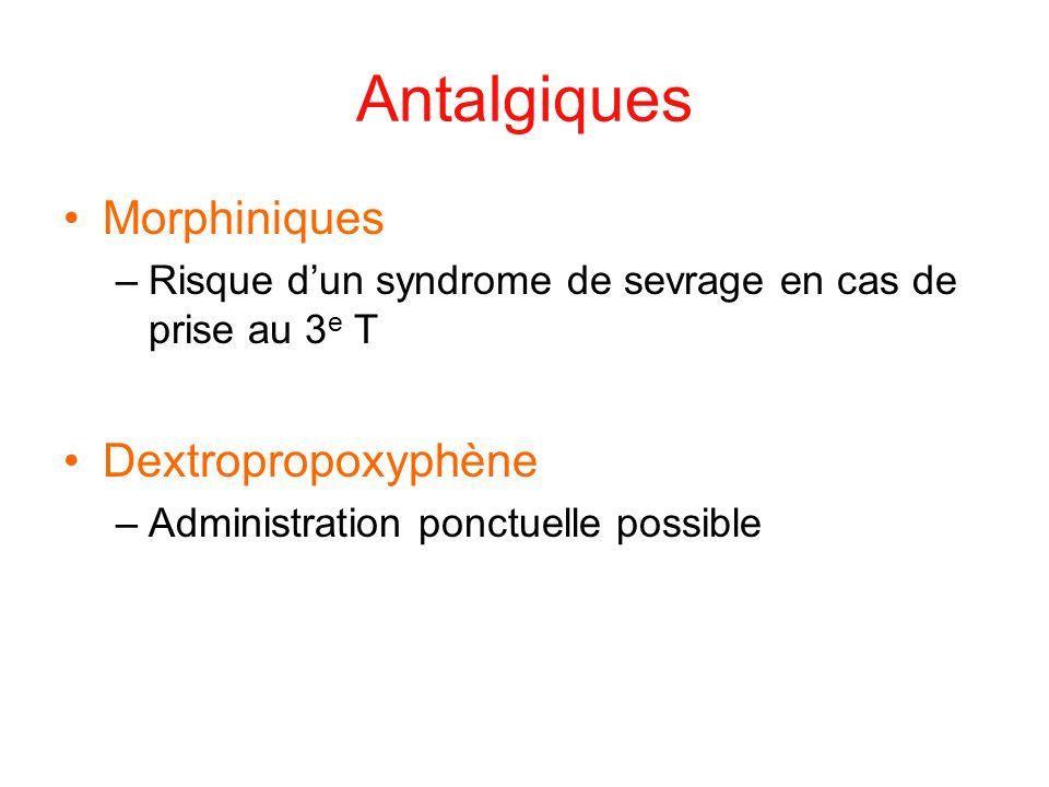 Antalgiques Morphiniques Dextropropoxyphène