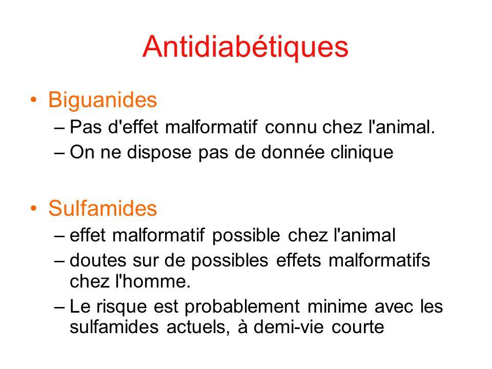 Antidiabétiques Biguanides Sulfamides