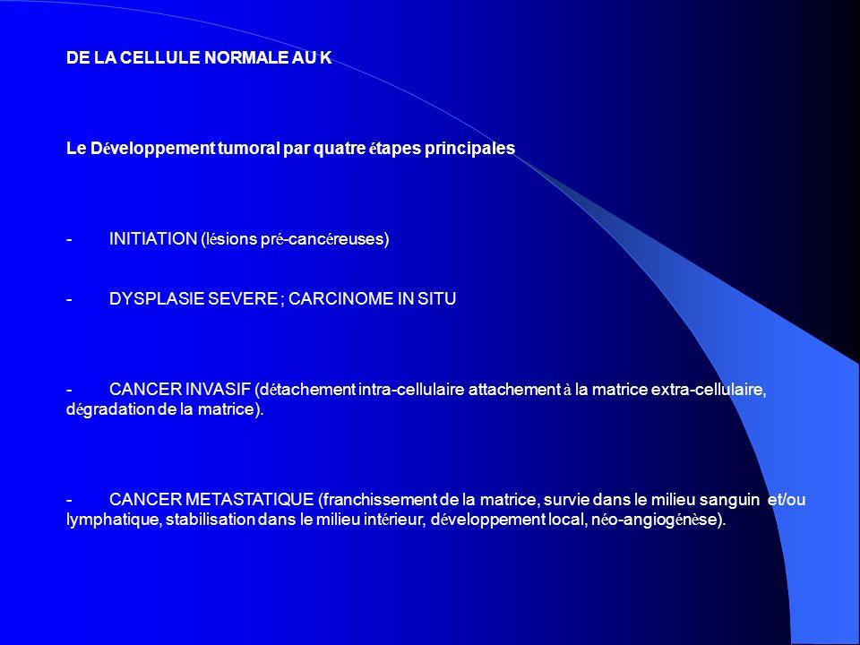 DE LA CELLULE NORMALE AU K