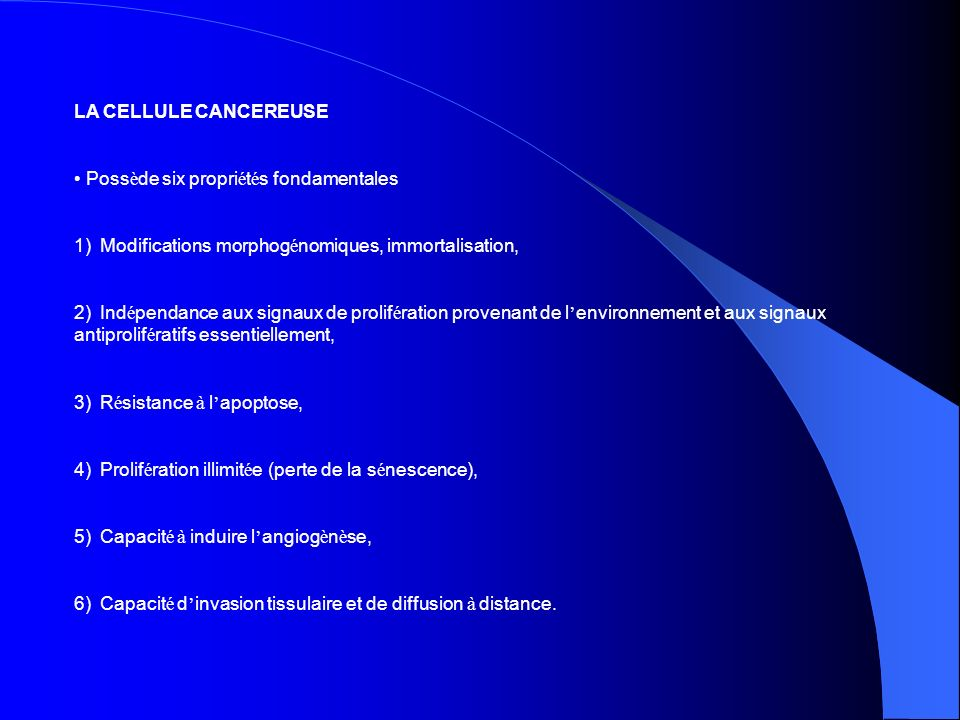 • Possède six propriétés fondamentales