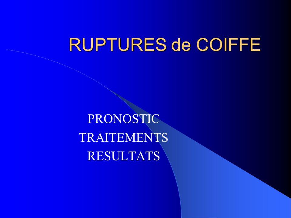 PRONOSTIC TRAITEMENTS RESULTATS