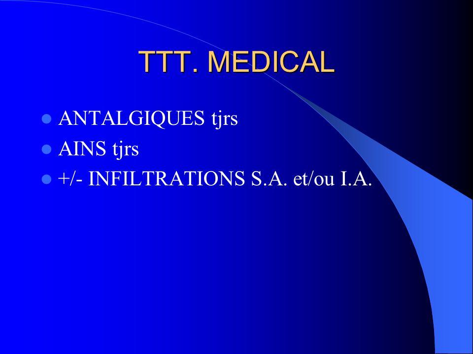 TTT. MEDICAL ANTALGIQUES tjrs AINS tjrs