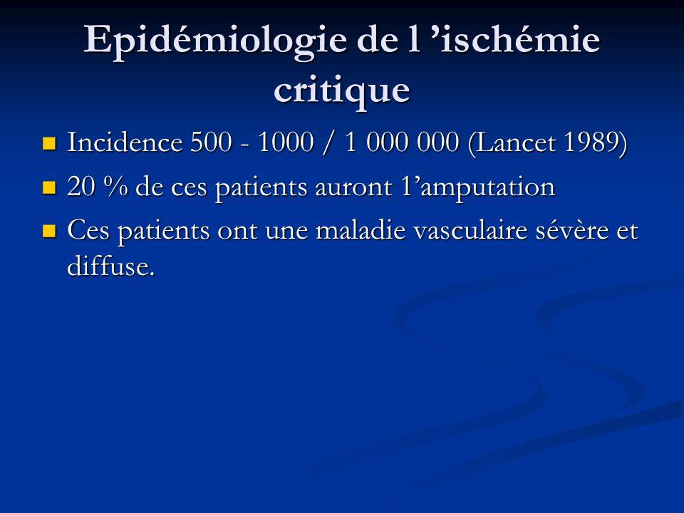 Epidémiologie de l 'ischémie critique