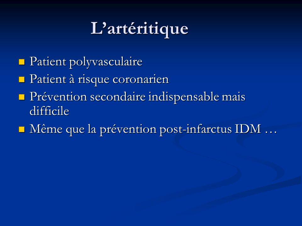 L'artéritique Patient polyvasculaire Patient à risque coronarien