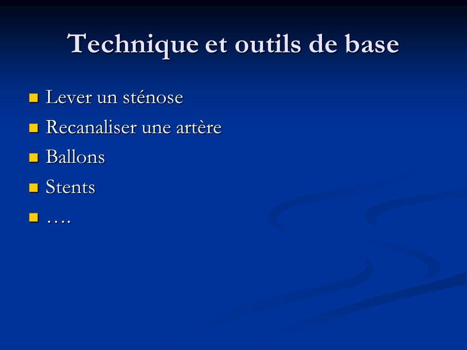 Technique et outils de base