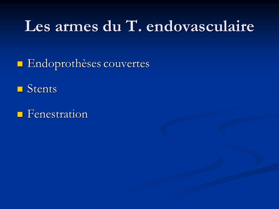 Les armes du T. endovasculaire