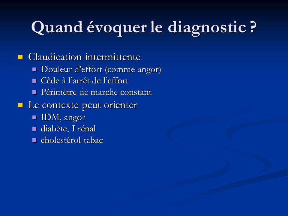 Quand évoquer le diagnostic