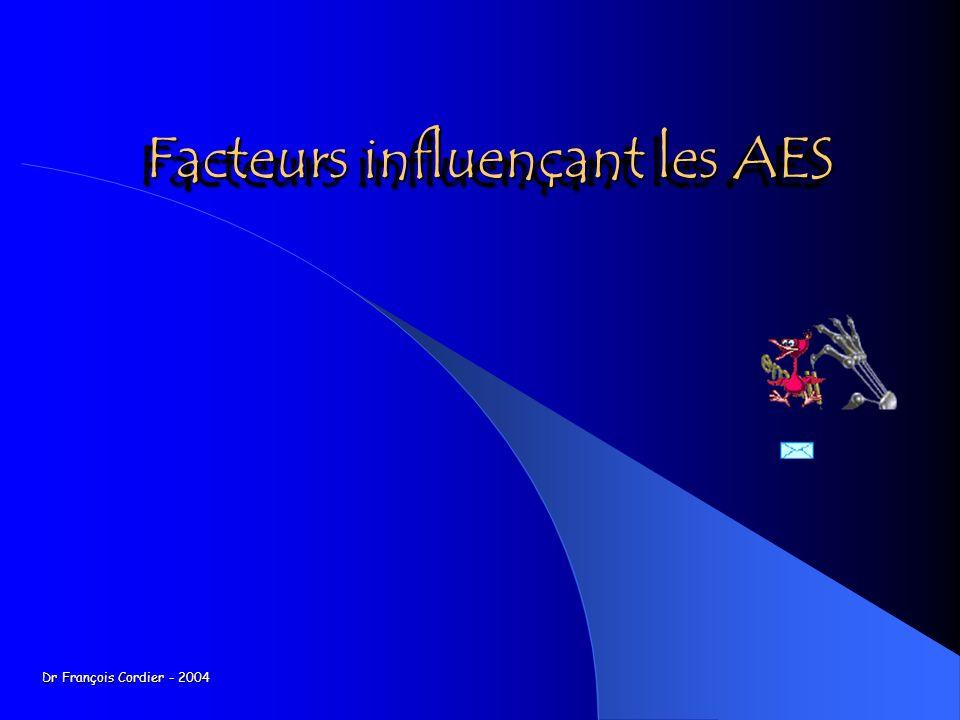 Facteurs influençant les AES
