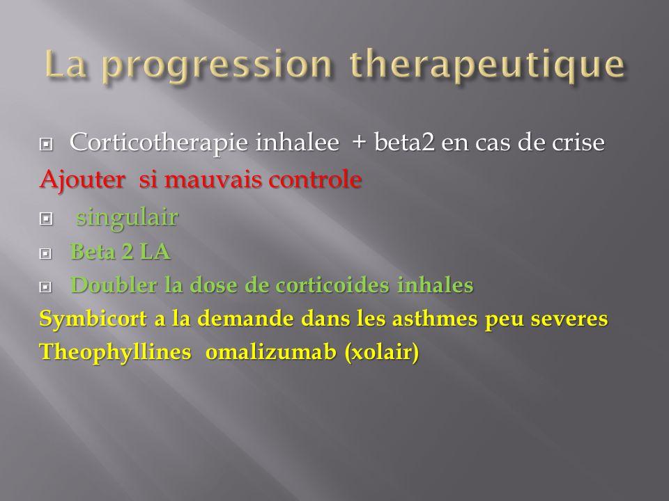 La progression therapeutique