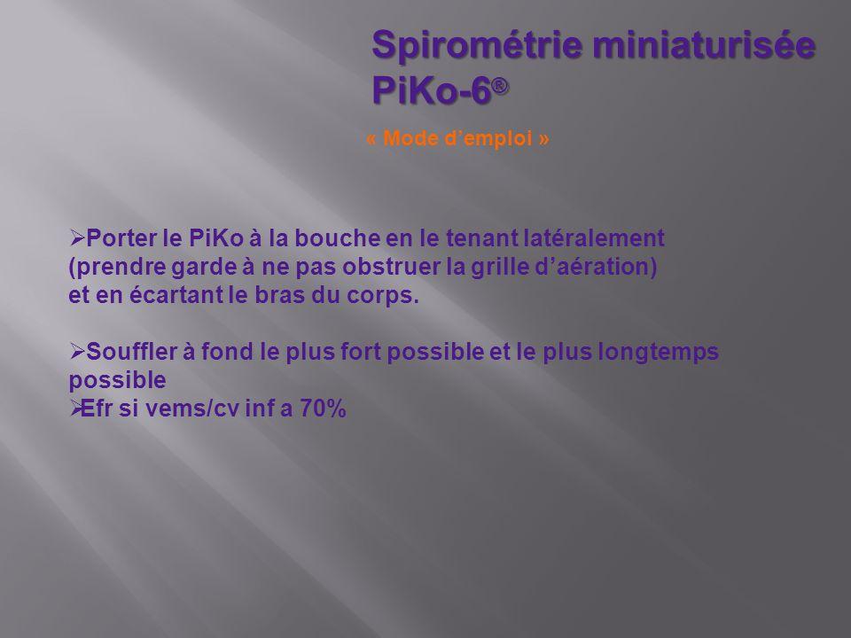 Spirométrie miniaturisée PiKo-6®