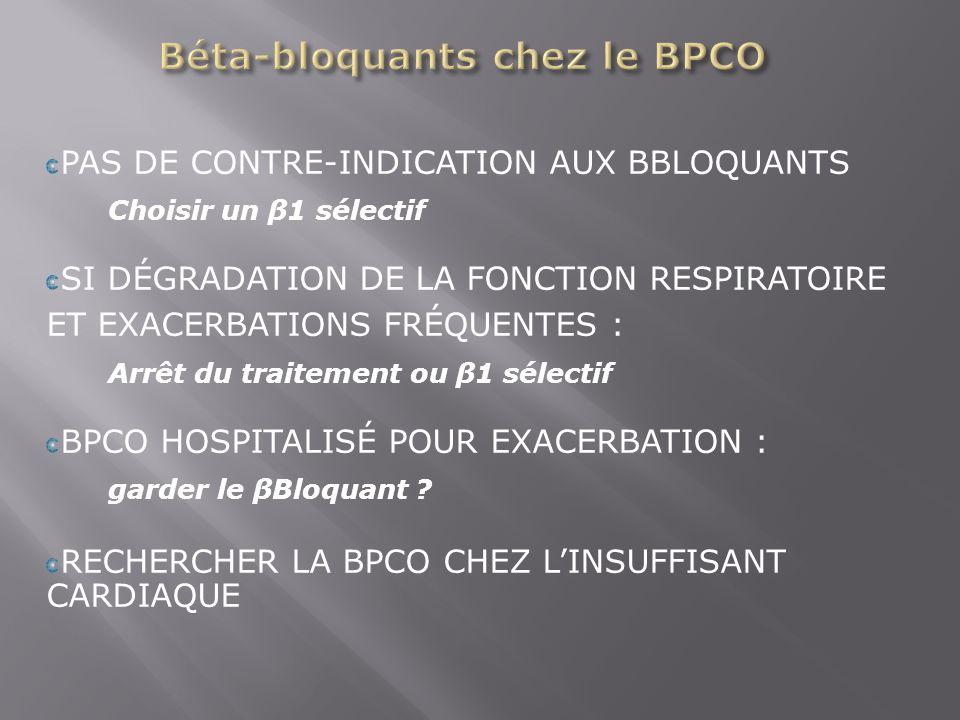Béta-bloquants chez le BPCO