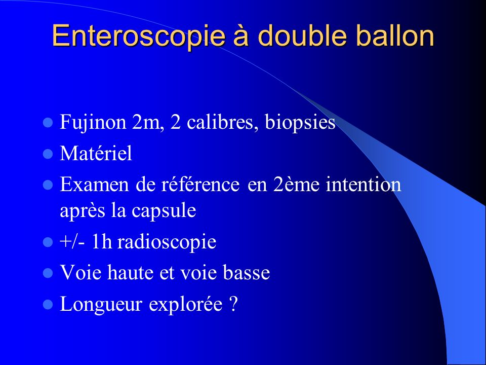 Enteroscopie à double ballon