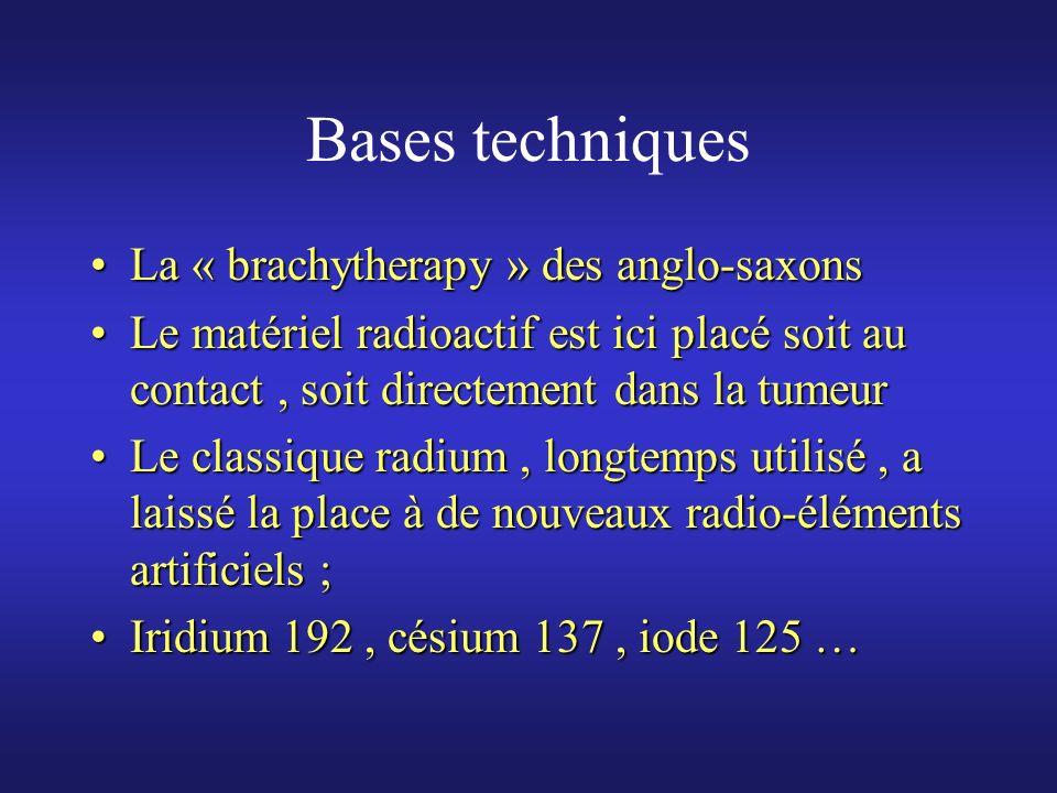 Bases techniques La « brachytherapy » des anglo-saxons