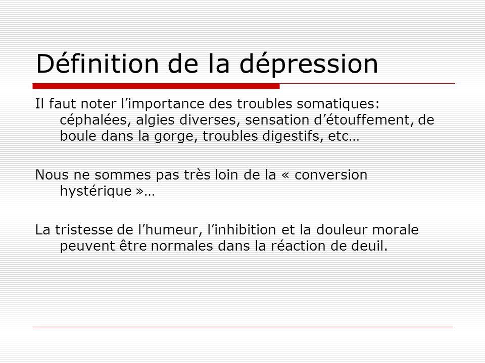 Définition de la dépression