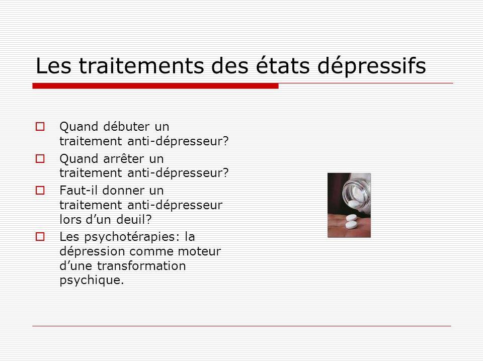 Les traitements des états dépressifs