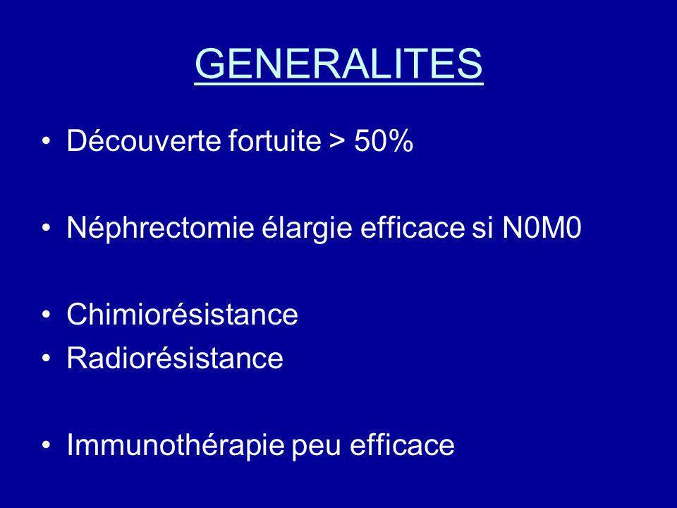 GENERALITES Découverte fortuite > 50%