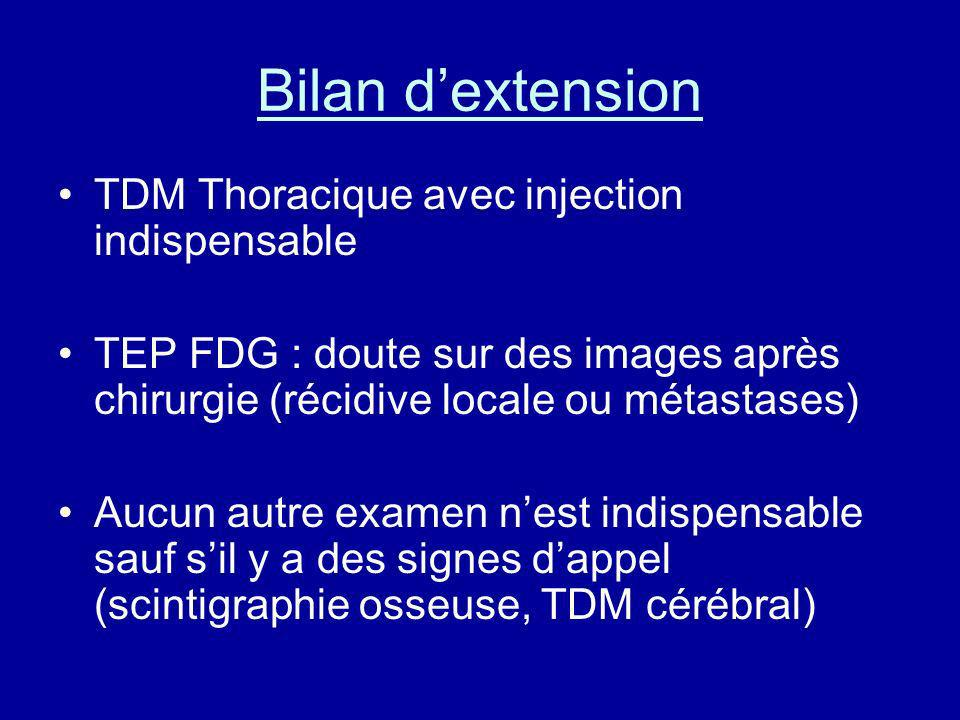 Bilan d'extension TDM Thoracique avec injection indispensable