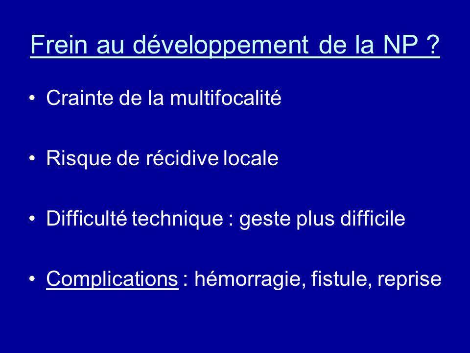 Frein au développement de la NP