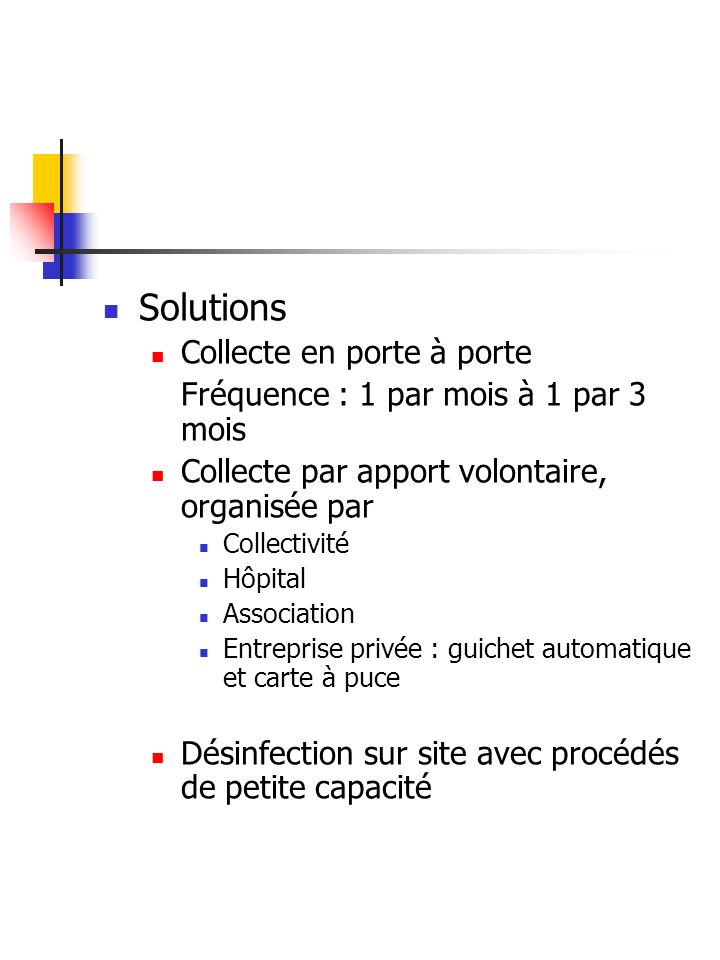 Solutions Collecte en porte à porte