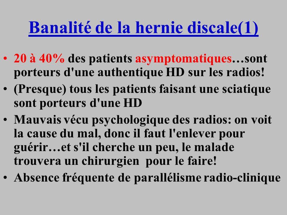 Banalité de la hernie discale(1)