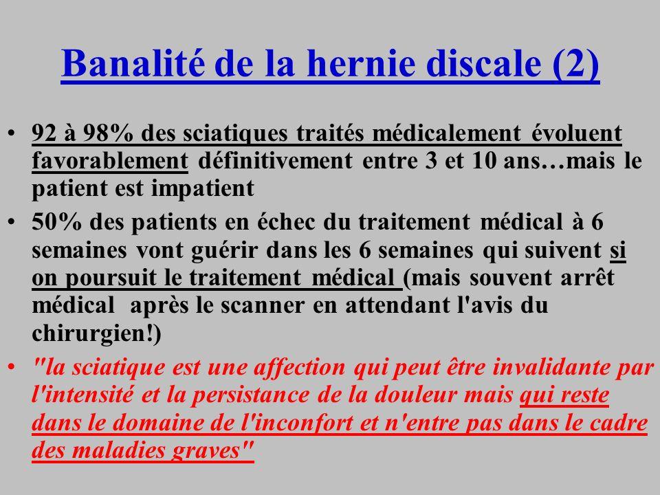 Banalité de la hernie discale (2)